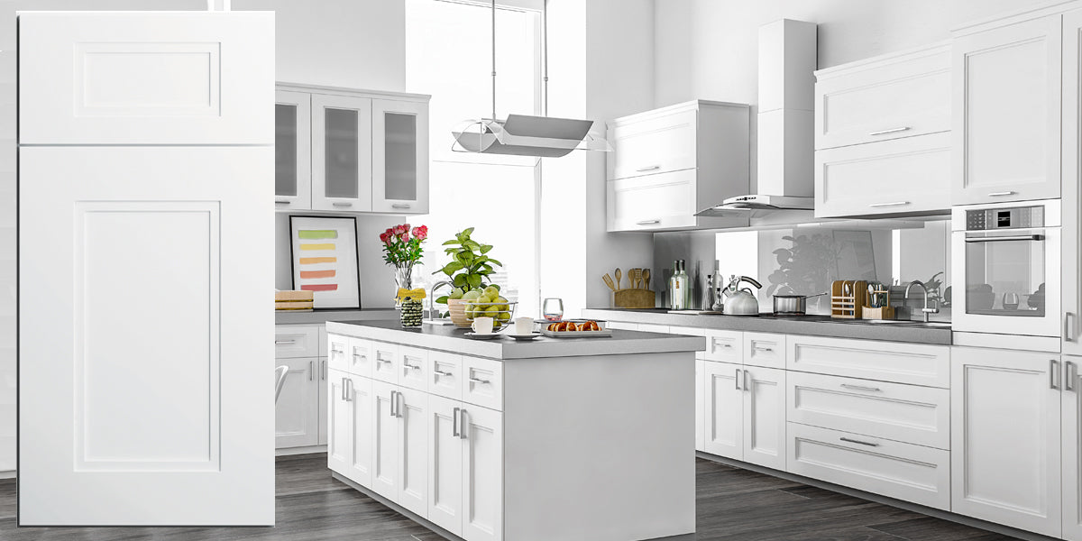 White Recessed Panel Kitchen Cabinets Fashion White Shaker Recessed Panel Assembled Kitchen Cabinets