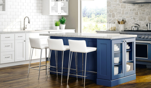 Ordering Blue Kitchen Cabinets - RTA Wood Cabinets