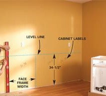 Find cabinet height