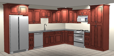 How To Stagger Kitchen Cabinets Homedesigningidea Com