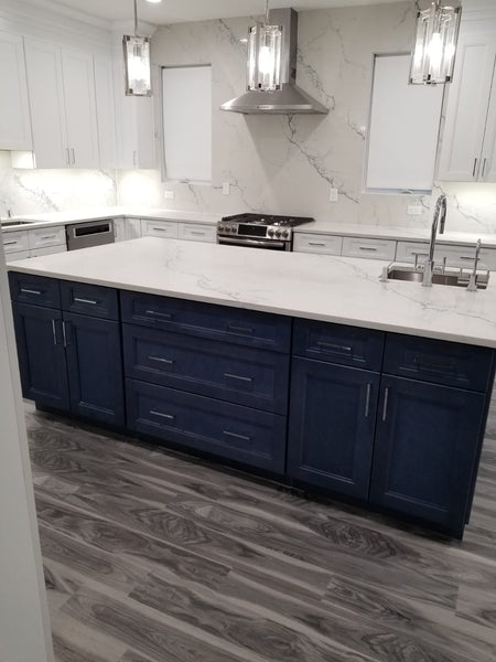CNC Fashion Ocean Blue Kitchen Cabinets