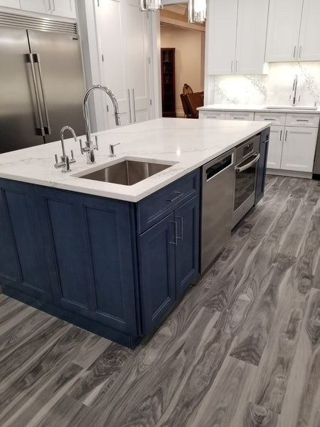 Fashion Ocean Blue Kitchen Cabinets