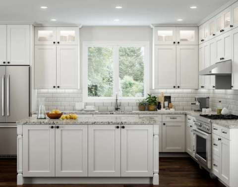 The Timeless Style Of A Black White Kitchen Design Rta Wood Cabinets