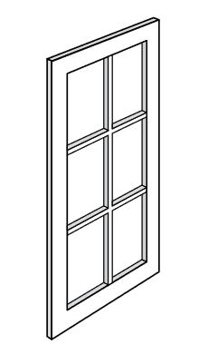 KBR-WDC2742GD Branford RTA Mullion Glass Door