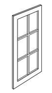 KTR-W3036BGD Trenton RTA Mullion Glass Door