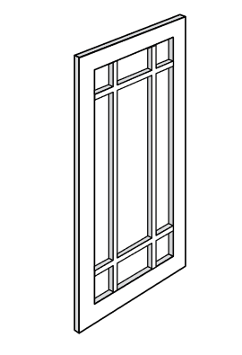 KYM WDC2430PGD JSI Yarmouth Assembled Prairie Glass Door