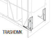 KBR-TRASHDMK Branford RTA Door Mount kit