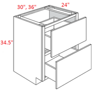 KNR-2DB30 Castle RTA Drawer Base Kitchen Cabinet