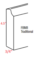 KE-FBM8-T Essex RTA  Furniture Base Molding Traditional