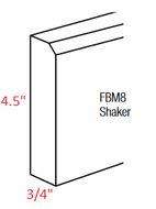 KBR-FBM8-S Branford RTA Furniture Base Molding Shaker