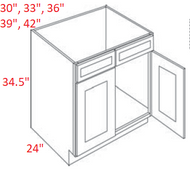 FB22-SB33 Fashion Dove Sink Base Kitchen Cabinet