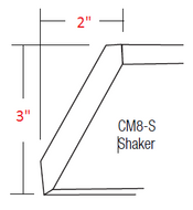 KE-CM8-S Essex RTA Crown Molding Shaker