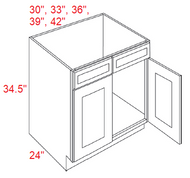 S11-SB42 Sierra Espresso RTA Sink Base Kitchen Cabinet