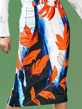 Load image into Gallery viewer, Dual Print Pencil Skirt