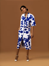 Load image into Gallery viewer, Leaf Print Shirt Dress