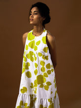 Load image into Gallery viewer, Green Leaf Gather Dress