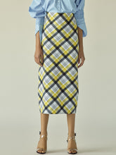 Load image into Gallery viewer, Tartan Pencil Skirt