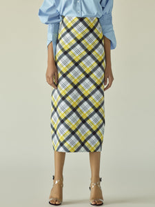 Tartan Pencil Skirt