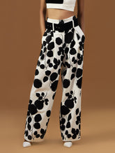Load image into Gallery viewer, Leaf Print Wide Leg Trousers