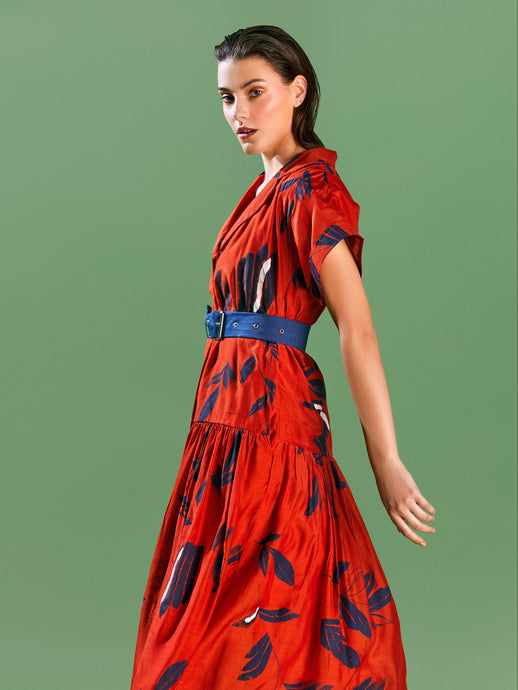 Dry Leaf Belt Dress