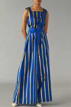 Load image into Gallery viewer, Gold Striped Jumpsuit