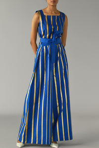 Gold Striped Jumpsuit