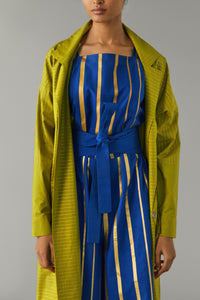 Gold Striped Citron Jacket