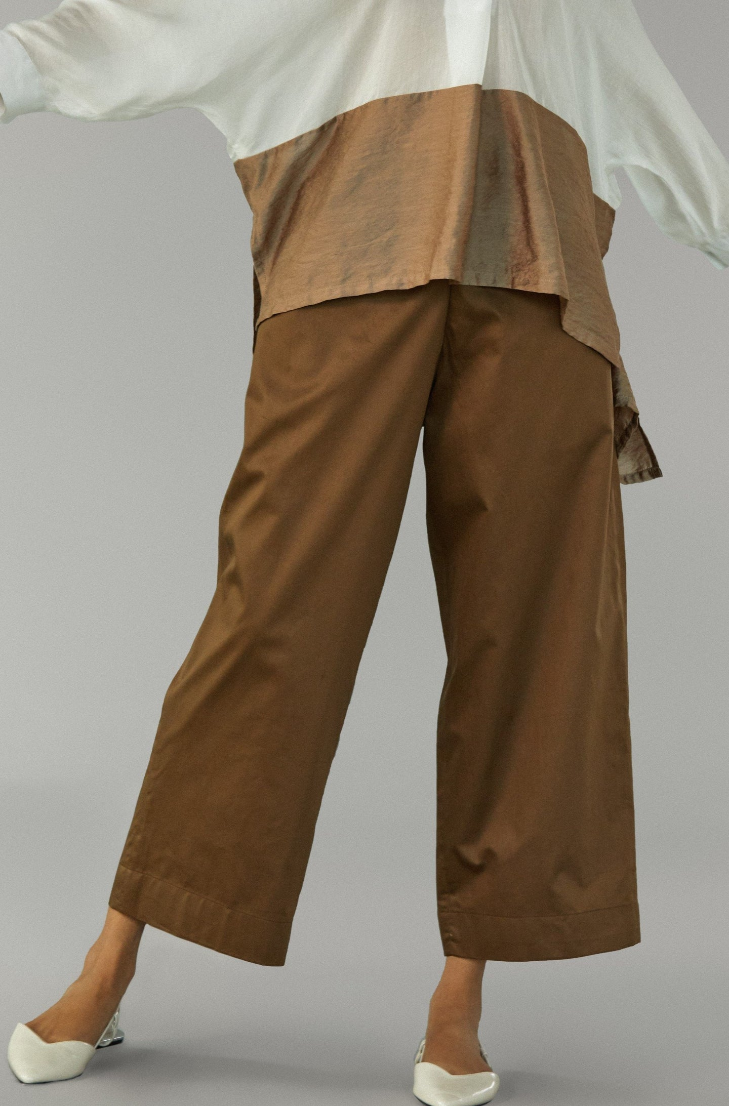 Brown Cotton Pants