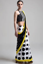 Load image into Gallery viewer, Net Detail Polka Dot Saree