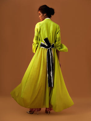 Maxi Cape with Kaku obi