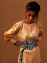 Load image into Gallery viewer, Kimono Shirt with Heko Obi Belt