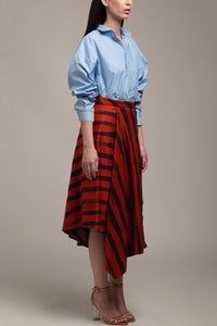 Reversible Striped Skirt