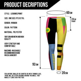 Legging - Simple Geometry Splicing