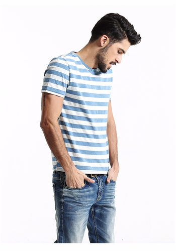 Striped Blue Slim Fit