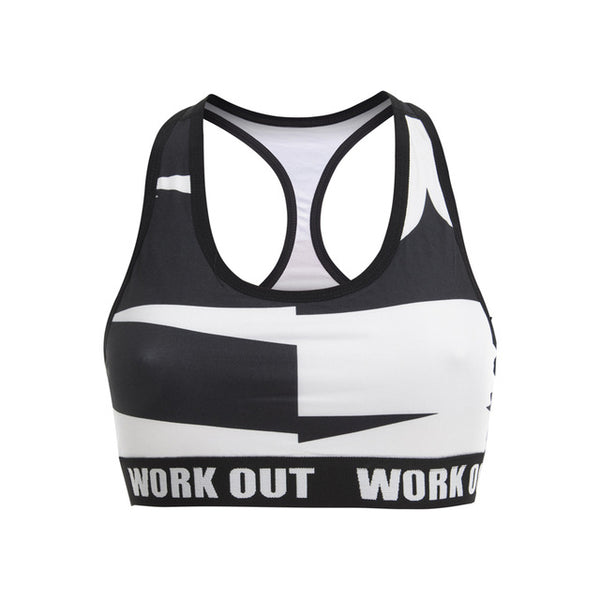 Work Out Typo Black Printing