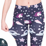 Legging - Unicorns Navy Blue