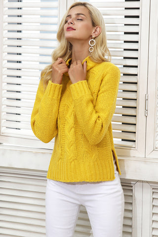 Simplee Knitting Pullover Turtleneck Sweater