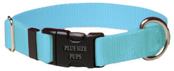 Plus Size Pups Solid Color Dog Collars Baby Blue