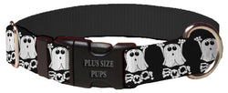 Plus Size Pups Halloween Boo Ghost Dog Collar