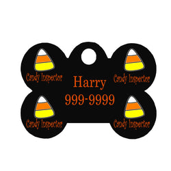 Halloween Dog Tag Bone Style - Candy Inspector