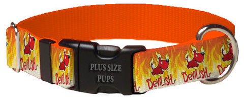 Plus Size Pups Halloween Dog Collar Devilish