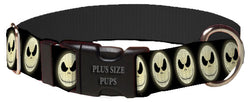 Plus Size Pups Halloween Dog Collar Jack Skellington