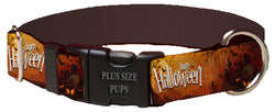 Plus Size Pups Halloween Dog Collar Grave Yard