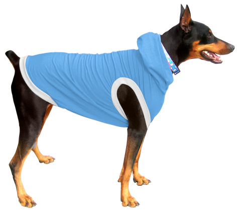 Boxer / Doberman Hoodie T-Shirt - Fits 56 to 110 Pound Dog - Available in 6 Colors!