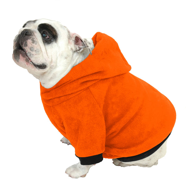 Halloween Hoodie-Sweatshirts - Orange with Black Trim