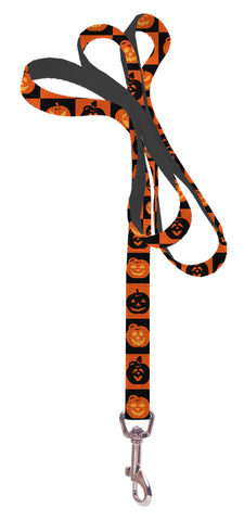Plus Size Pups Dog Leash - Pumpkin Squares