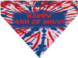 4th of July Over the Collar Dog Bandana - Happy 4th of July Tie Die