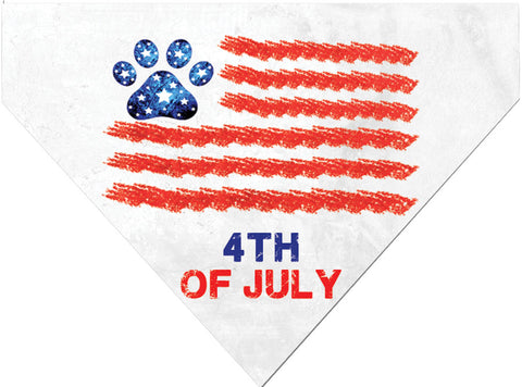 Plus Size Pups 4th of July Dog Bandana Paw Print Flag