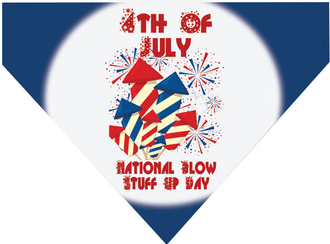 4th of July Over the Collar Dog Bandana - Blow Stuff Up Day