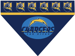 Football Dog Bandana - Chargers